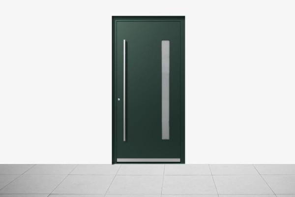 Aluminium Haustür Modern Grün