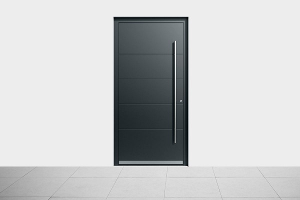 Aluminium Haustür Fest Dark Gray