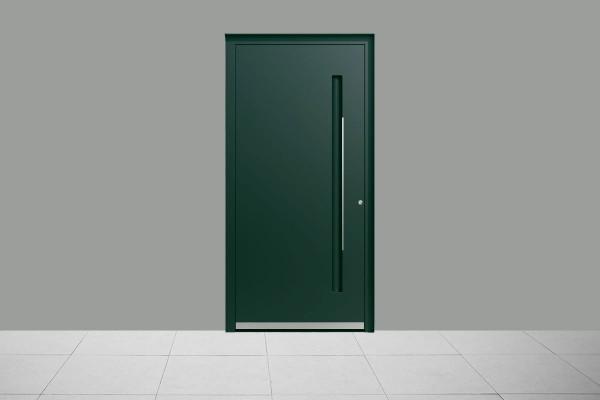 Aluminium Haustür Elegant Grün