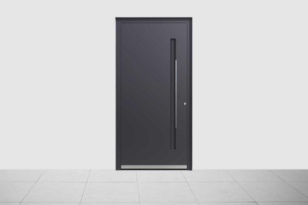 Aluminium Haustür Elegant Dunkel Grau Matt