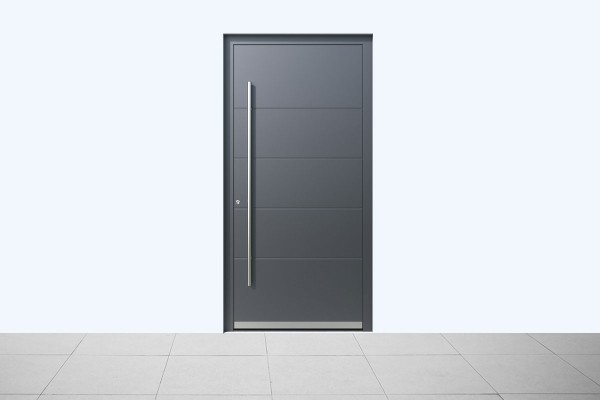 Aluminium Haustür Aluminium Grau