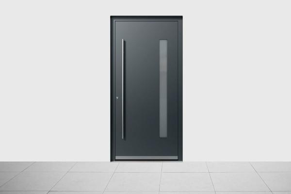 Aluminium Haustür Modern Dark Gray