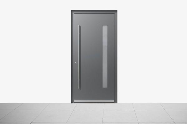 Aluminium Haustür Modern Aluminium Grau